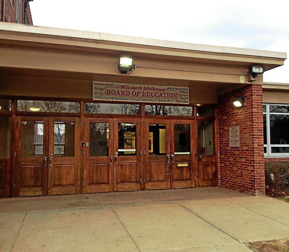 Middletown Board of Education Photo: Journal Register Co.
