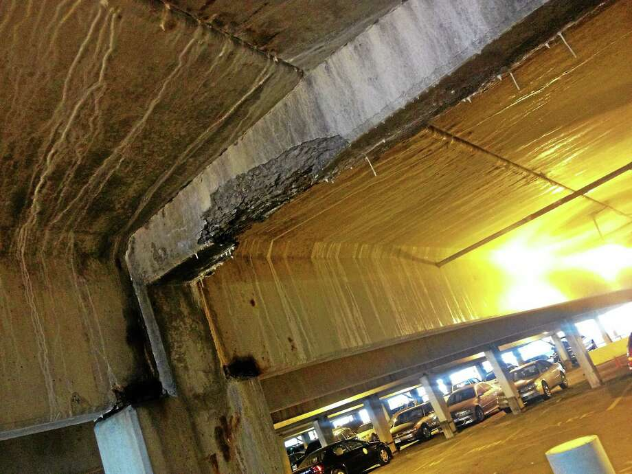 Alex Gecan - The Middletown Press The city shut down the crumbling lower level of the Arcade parking garage in December. Photo: Journal Register Co.
