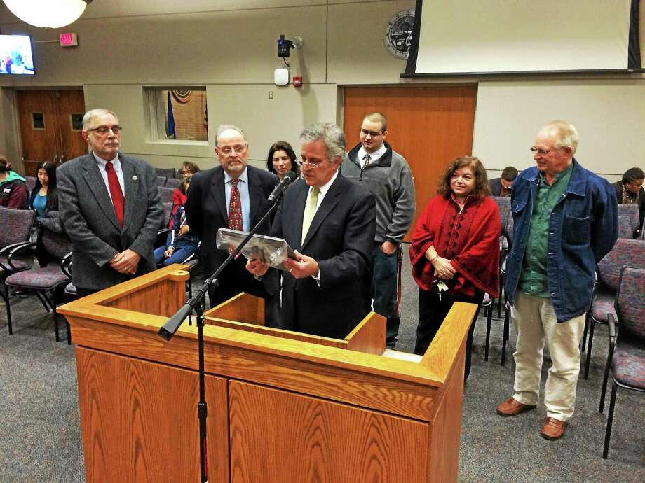 Richard Kamins served for 14 years on the city's Commission on the Arts. Photo: Alex Gecan — The Middletown Press