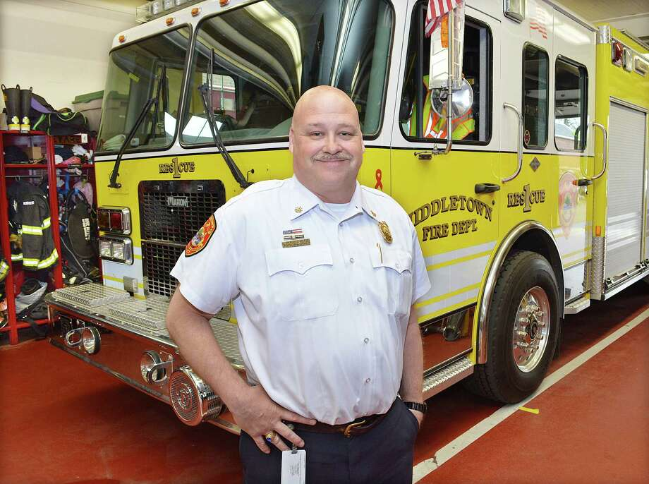 Catherine Avalone - The Middletown Press Rob Kronenberger of the Middletown Fire District has received final approval Monday evening from the Common Council to replace retiring Chief Gary Ouellette at the end of the year. Photo: Journal Register Co.