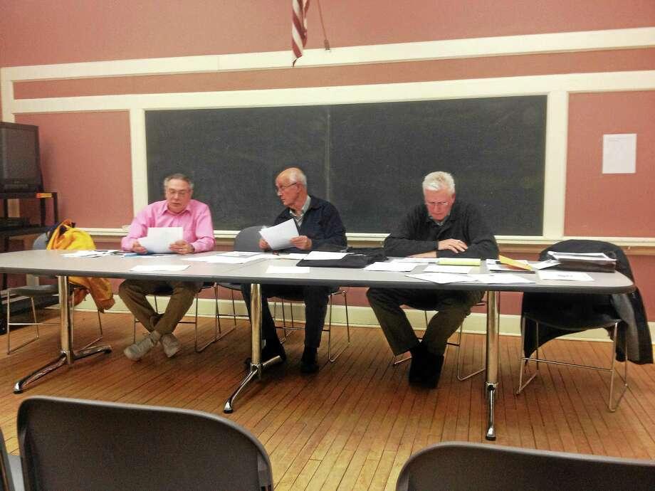 Alex Gecan / The Middletown Press ¬ Middlefield First Selectmen David Burgess, FS Jon Brayshaw and Ed Bailey Photo: Journal Register Co.