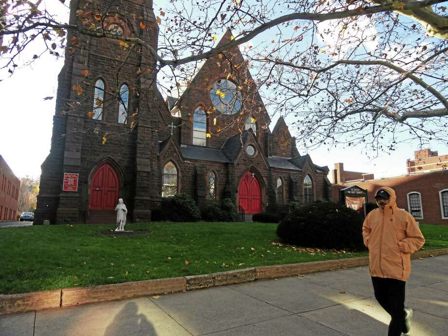 The city's warming center at Church of the Holy Trinity on Main Street in Middletown is due to open this weekend. Photo: Cassandra Day — The Middletown Press