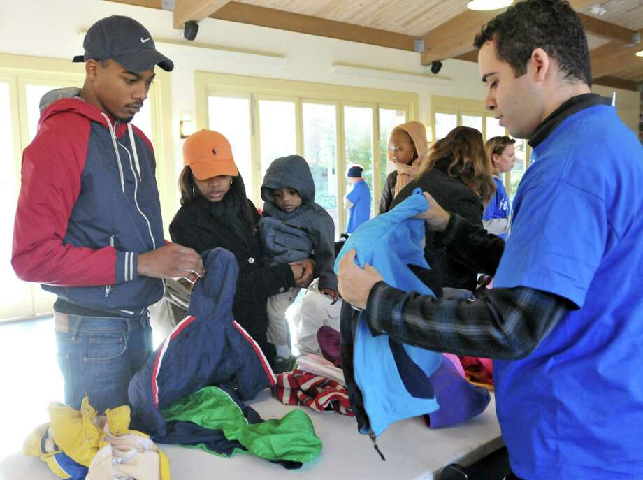 The Middletown American Legion Connecticut Post 75 at 58 Bernie O'Rourke Drive is collecting coats for veterans on Saturday, much like this drive seen in this file photo. Photo: File Photo