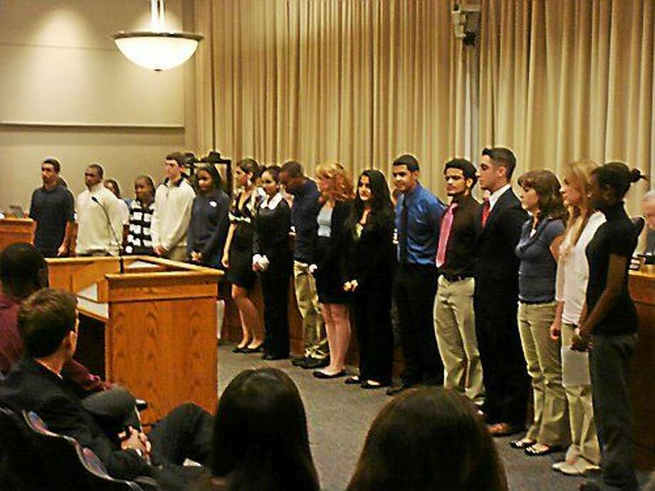 The city offers a Youth in Government initiative to encourage young people's civic involvement. Photo: Courtesy Middletown Schools