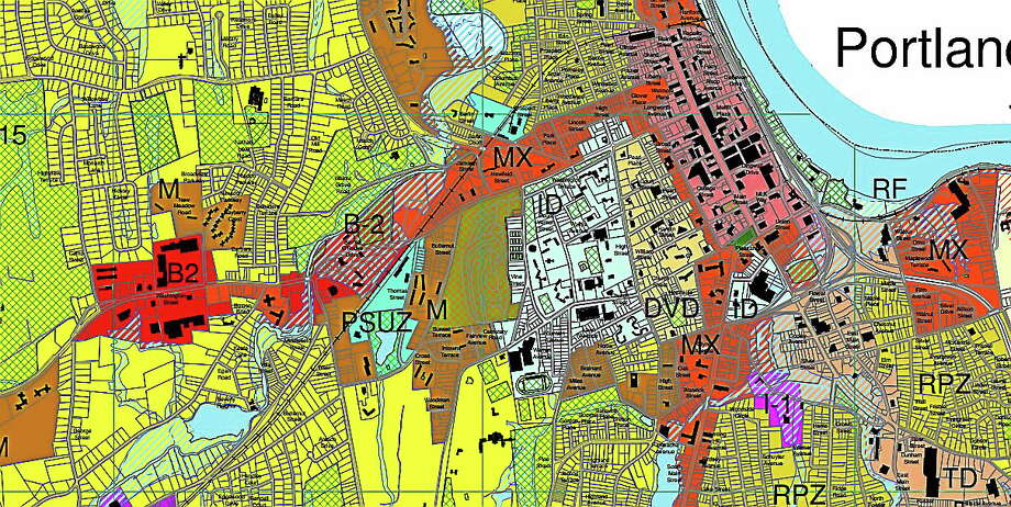 Middletown Planning and Zoning Zoning code map Photo: Journal Register Co.