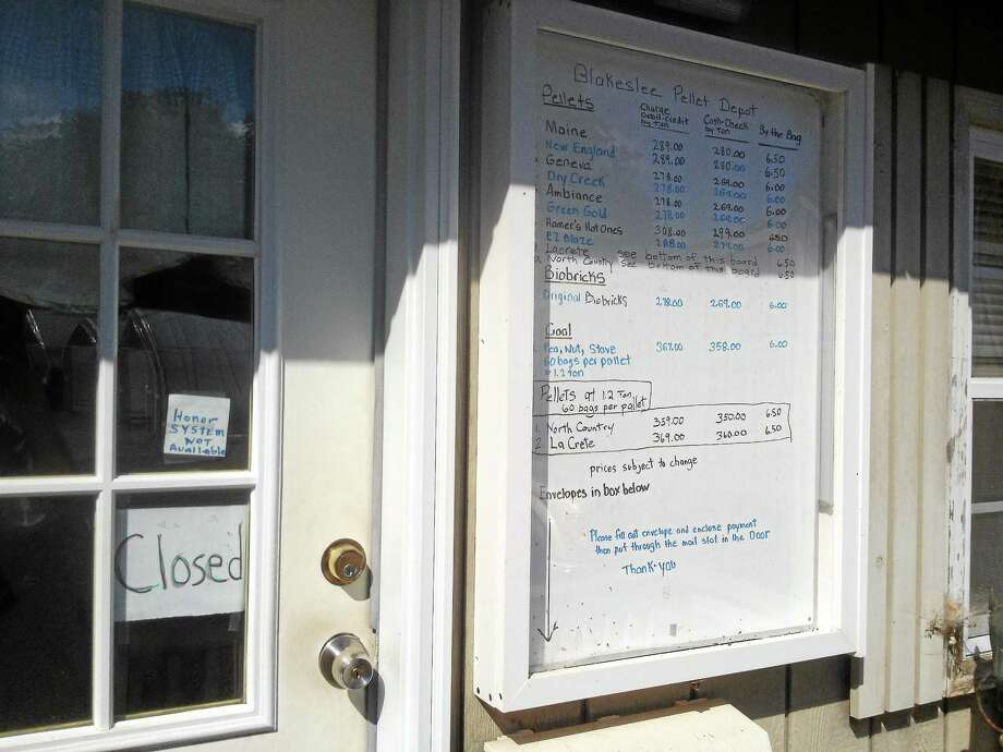 Blakeslee Pellet Depot on Atkins Street in Middletown is being sued by neighbors who claim the business is a nuisance. Photo: Alex Gecan - The Middletown Press