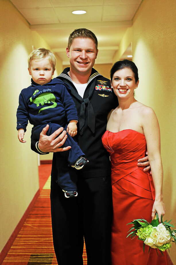 Kevin and Lindsey Lacz of Middlefield with their son. Photo: Courtesy Lindsey Lacz