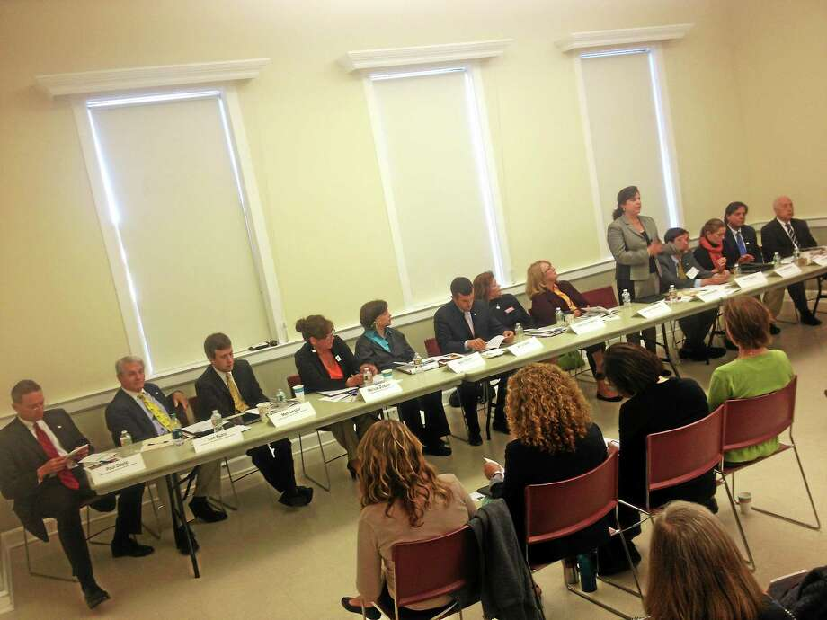 The Middlesex Coalition for Children hosted a candidate forum Thursday morning at the DeKoven house in Middletown attended by Republican and Democratic Senatorial and Representative candidates. Photo: Alex Gecan - The Middletown Press