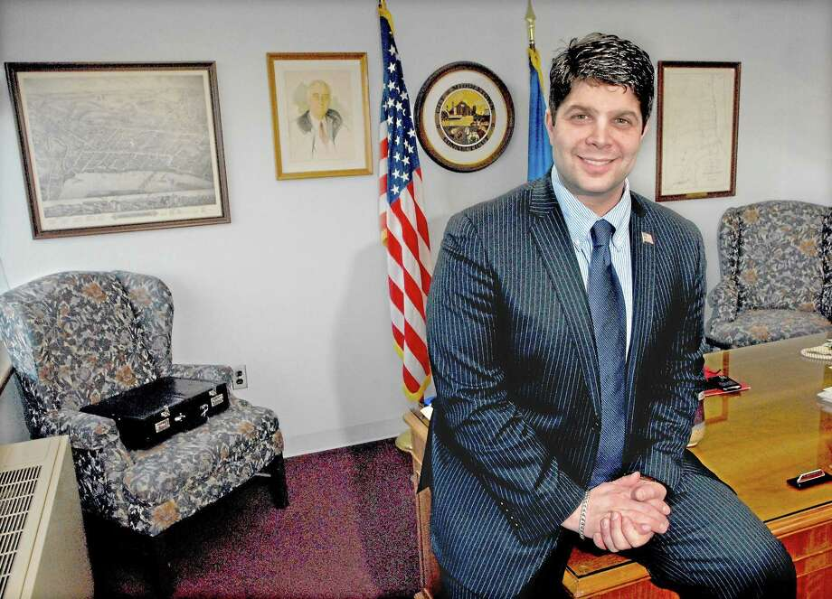Middletown Mayor Dan Drew in his office at city hall in this Press file photo. Photo: Catherine Avalone — The Middletown Press