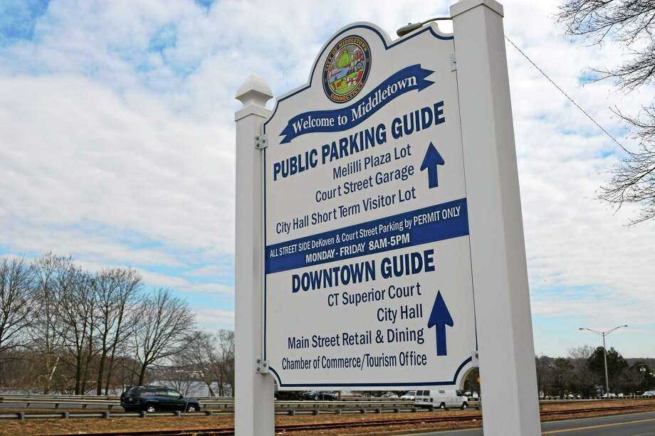 The city is considering selling parking permits to downtown Middletown residents. Photo: Cassandra Day — The Middletown Press