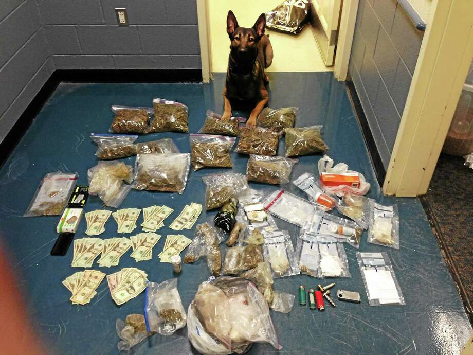 Submitted photo ¬ Some fo the drugs seized from William Bradley, of Clinton. Photo: Journal Register Co.