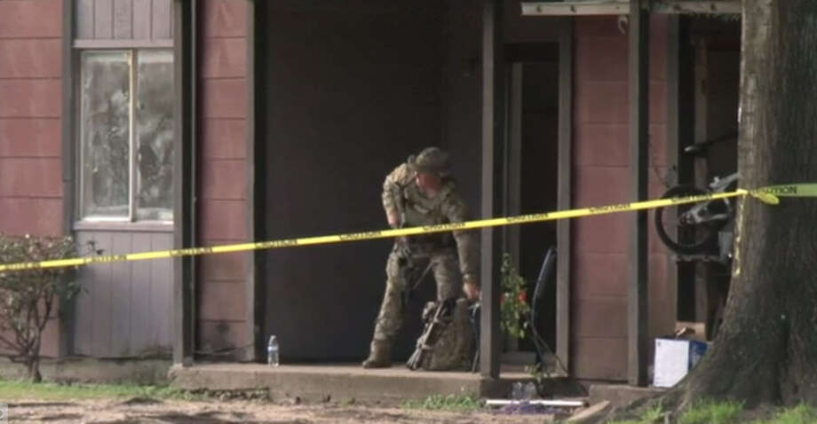 A SWAT standoff ended with one person in custody Sunday morning. Photo: Metro Video