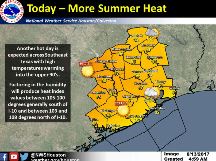The National Weather Service issued a heat advisory for Sunday afternoon and early evening.>>The heat advisory is no joking matter. But these memes are pretty funny. Photo: NWS