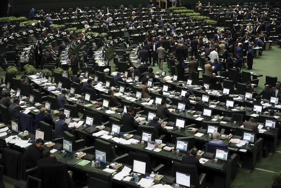 Iran's parliament, shown in February, approved a bill to counter sanctions recently imposed by the U.S. Photo: Vahid Salemi, Associated Press