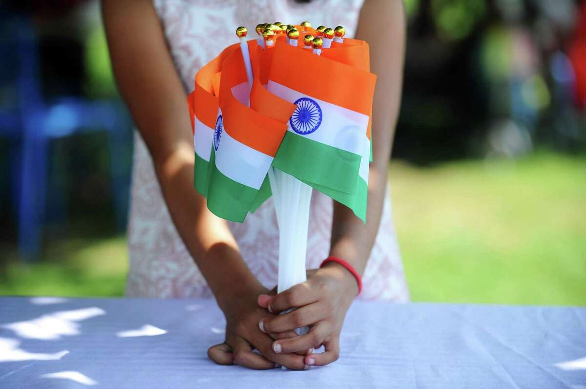 The India Day Festival celebrated Indian Independence Day and was full of Indian flags, pictured, at Mill River Park in Stamford, Conn. on Sunday, August 13, 2017.