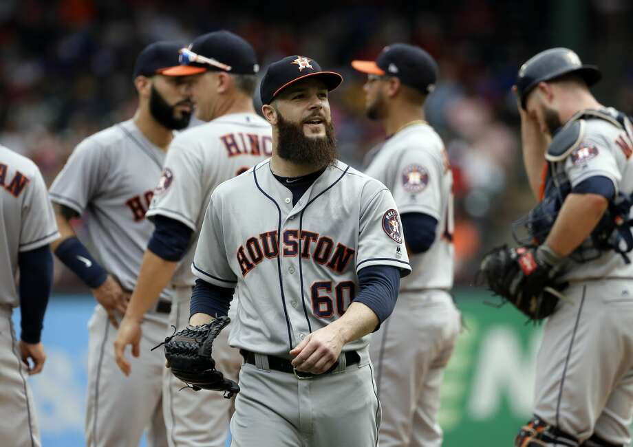 Astros' Dallas Keuchel said on Sunday 'excitement is an understatement' after the Astros traded for Justin Verlander. Photo: Tony Gutierrez/Associated Press