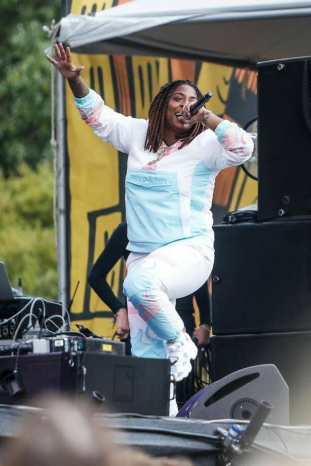 Kamaiyah performs during the 10th annual Outside Lands Festival in Golden Gate Park in San Francisco on August 13, 2017. She is due in court in Enfield, Conn. Monday in connection with an incident at Bradley International Airport in May 2018. Photo: Nicole Boliaux, The Chronicle