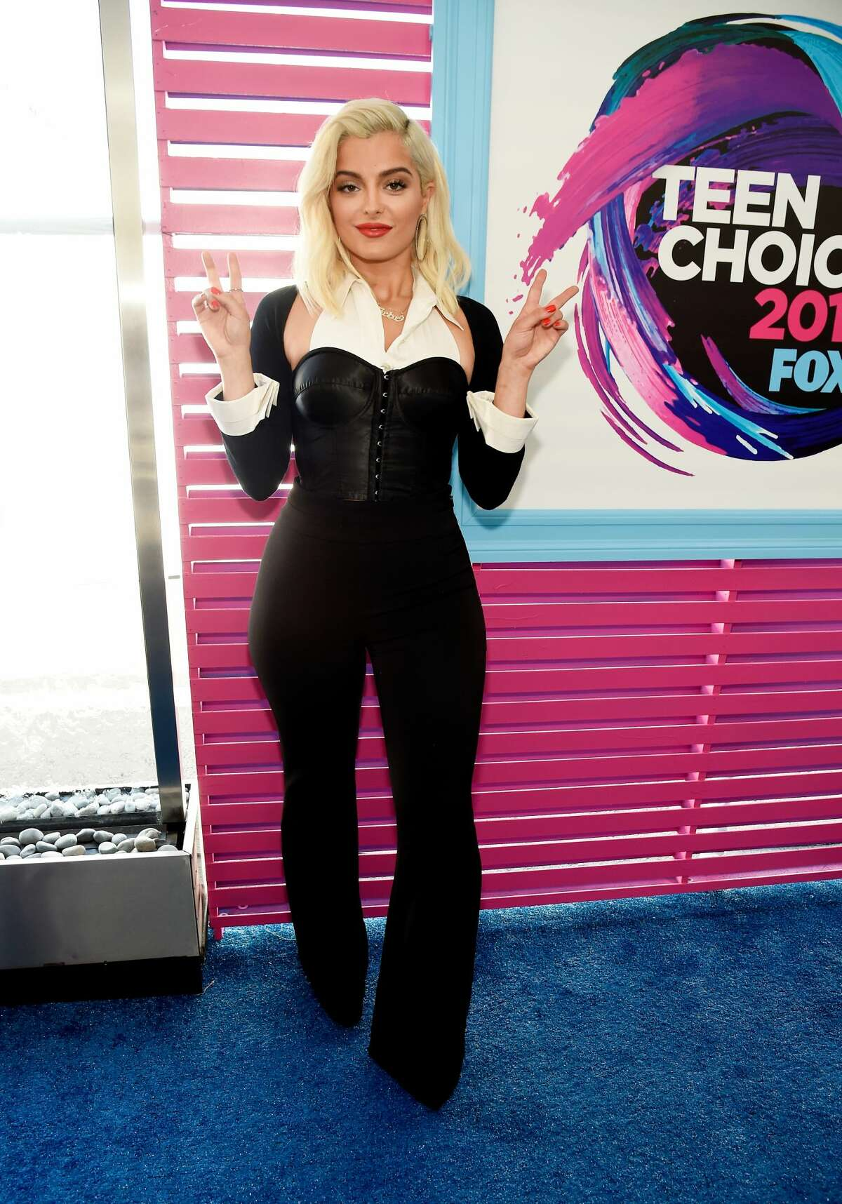 Worst:Bebe Rexha, your faux tux outfit looks like a bad costume for a jazz routine.