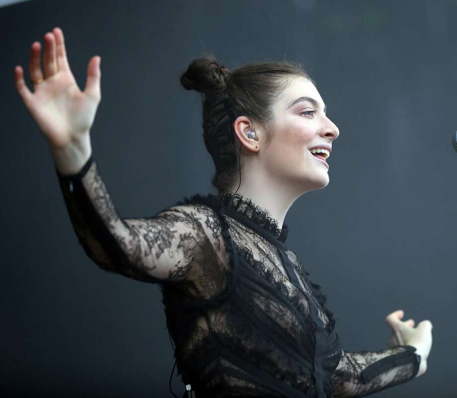 Lorde performs during Day 3 of Outside Lands in Golden Gate Park in San Francisco, Calif. on Sunday, August 13, 2017. Photo: Scott Strazzante, The Chronicle
