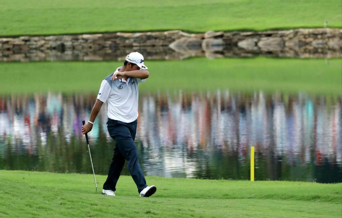 Hideki Matsuyama of Japan, walks up the 18th hole during the final round of the PGA Championship golf tournament at the Quail Hollow Club Sunday, Aug. 13, 2017, in Charlotte, N.C. (AP Photo/John Bazemore) ORG XMIT: PGA196
