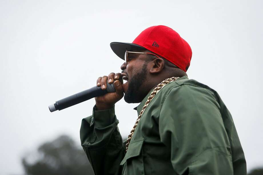 Big Boi performs on a pop up stage next to the during the 10th annual Outside Lands Festival in Golden Gate Park in San Francisco on Sunday, August 13, 2017. Photo: Nicole Boliaux, The Chronicle