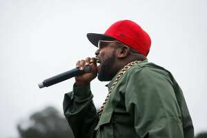 Big Boi performs on a pop up stage next to the during the 10th annual Outside Lands Festival in Golden Gate Park in San Francisco on Sunday, August 13, 2017.