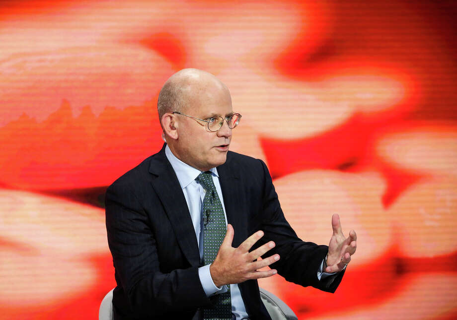 John Flannery, president and CEO of GE Healthcare, speaks during a Bloomberg Television interview in New York on Sept. 30, 2016. (MUST CREDIT: Christopher Goodney/Bloomberg) ORG XMIT: 673653023 Photo: Christopher Goodney / Bloomberg