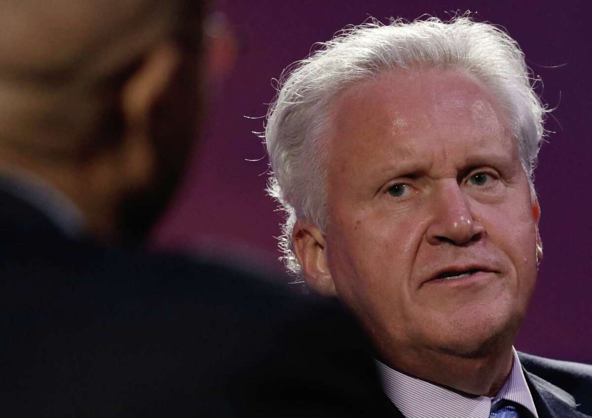 Jeffrey Immelt, chief executive officer of General Electric Co. (GE), listens during an event at the Economic Club of New York in New York, U.S., on Thursday, June 22, 2017. Last week, Immelt announced he would step down as CEO on Aug. 1. Immelt's successor, John Flannery, said he plans to review the General Electric Co. empire he's inheriting, fueling speculation that the $240 billion company is headed for a major slimdown. Photographer: Peter Foley/Bloomberg ORG XMIT: 700071305