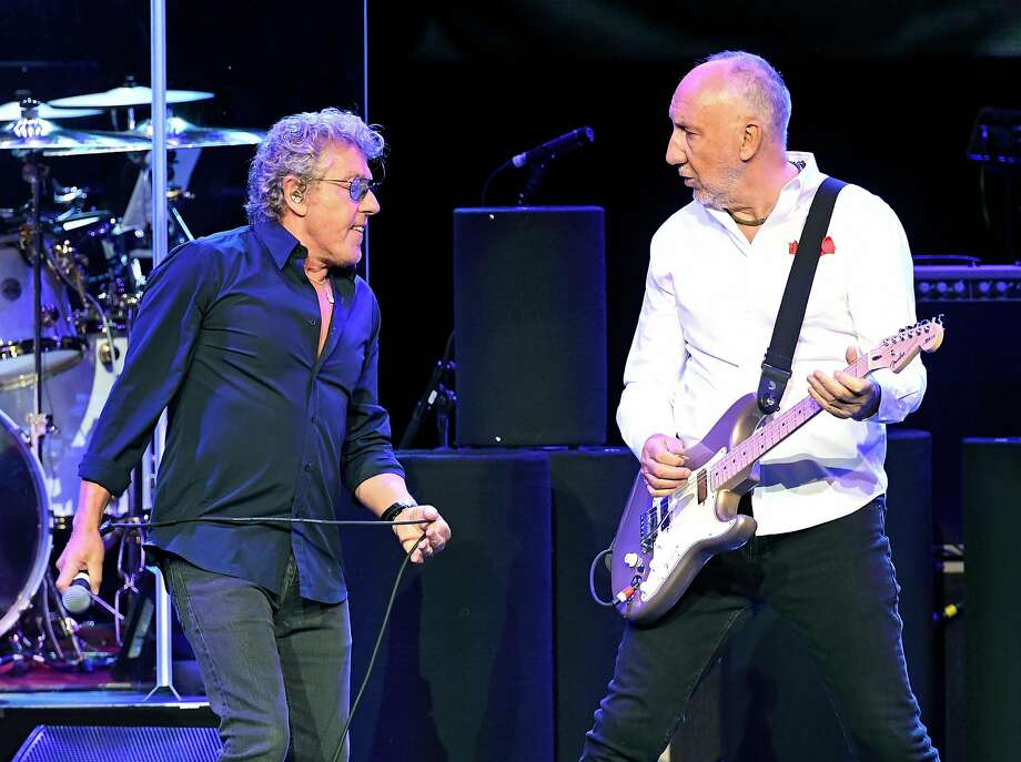 LAS VEGAS, NV - JULY 29:  Singer Roger Daltrey (L) and guitarist Pete Townshend of The Who perform on the first night of the band's residency at The Colosseum at Caesars Palace on July 29, 2017 in Las Vegas, Nevada.  (Photo by Ethan Miller/Getty Images) Photo: Ethan Miller, Getty Images