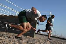 ARTESIA, NM - AUGUST 03:  A U.S. Border Patrol trainee runs an obstacle course at the U.S. Border Patrol Academy on August 3, 2017 in Artesia, New Mexico. All new agents must complete a rigorous months-long training course at the New Mexico facility before assuming their posts at Border Patrol stations, mostly along the U.S.-Mexico border. President Trump has pledged to add an additional 5,000 agents to the existing Border Patrol force of more than 21,000 as part of his border security policy.  (Photo by John Moore/Getty Images)