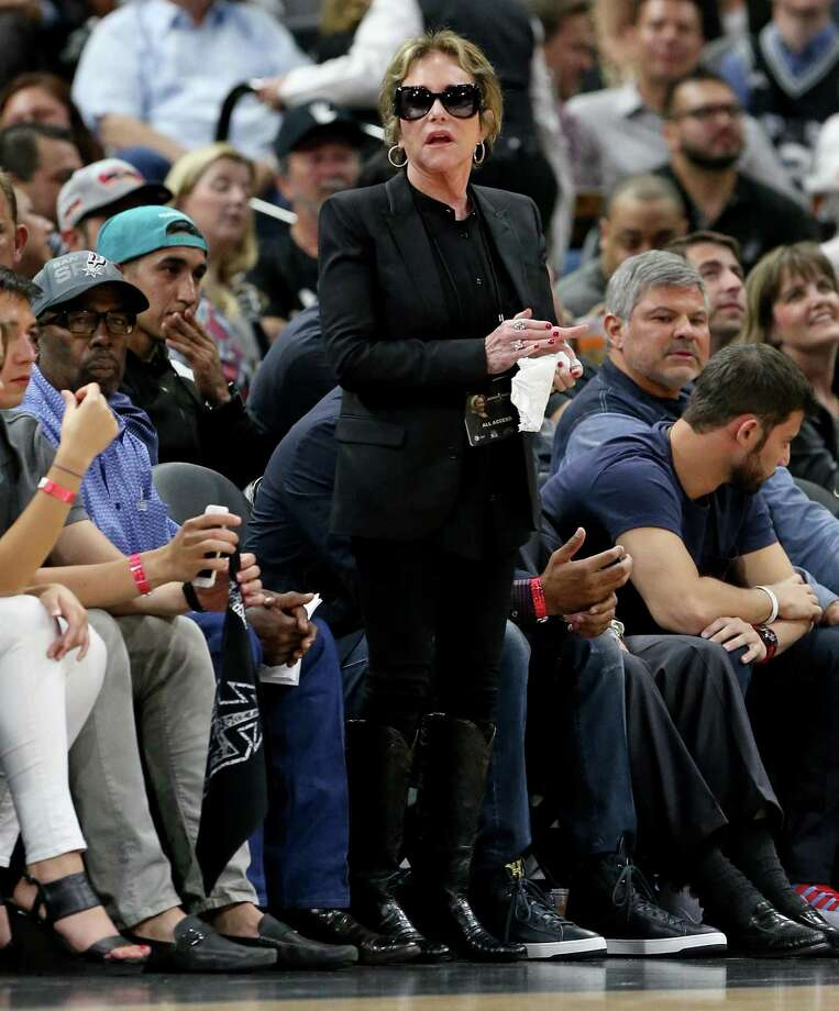 Spurs chairman and CEO Julianna Hawn Holt stands during second half action of Game 2 in the Western Conference semifinals between the San Antonio Spurs and Oklahoma City Thunder Monday May 2, 2016 at the AT&T Center. The Thunder won 98-97. Photo: Edward A. Ornelas, Staff / San Antonio Express-News / © 2016 San Antonio Express-News