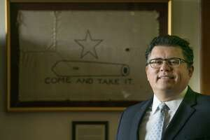 Secretary of State Rolando Pablos in his office at the Capitol in Austin, Texas on Wednesday July 12, 2017. Photo by Kelly West