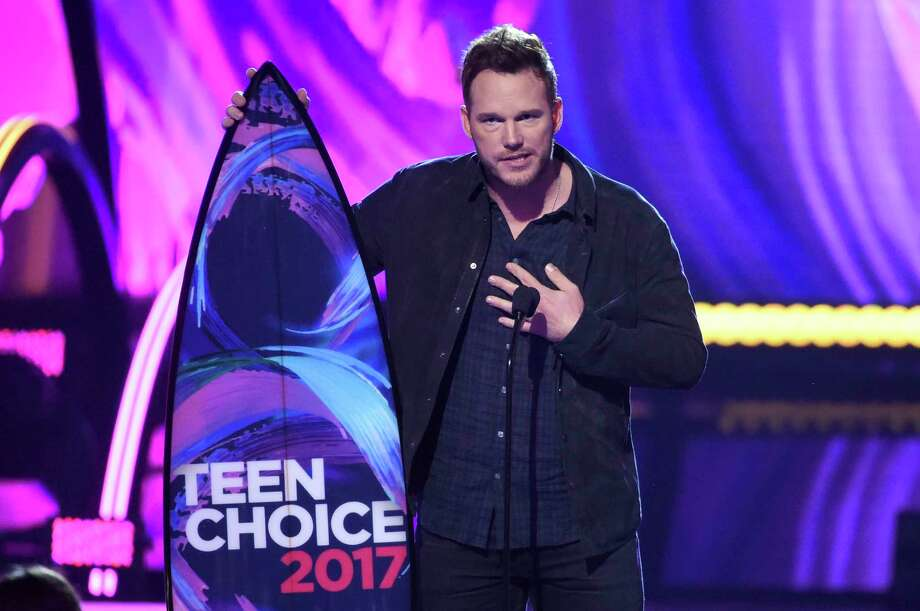 "Chris Pratt recibe el premio Teen Choice al mejor actor en una cinta de ciencia ficción por ""Guardians of the Galaxy Vol. 2"", el domingo 13 de agosto del 2017 en Los Angeles. (Foto por Phil McCarten/Invision/AP) Photo: Phil McCarten, Phil McCarten/Invision/AP / Invision"
