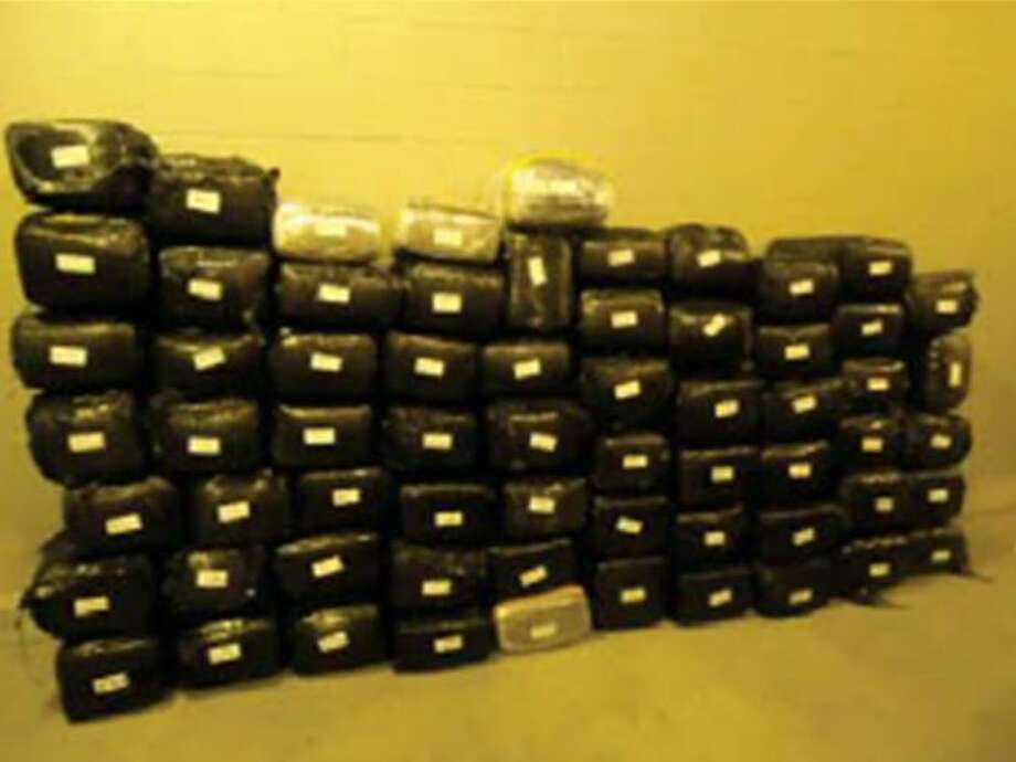 BP agents recently seized 1,582.9 pounds of marijuana after conducting an inspection on a tractor-trailer at the Border Patrol Checkpoint. Photo: CBP