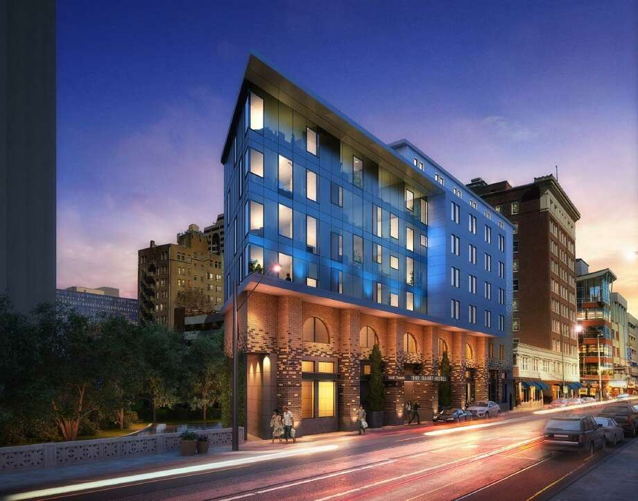 """Construction is expected to begin in the spring on a seven-story River Walk hotel with the motto """"play naughty, sleep saintly."""" Photo: Historic And Design Review Commission"""