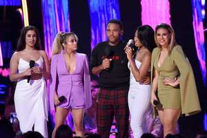 Anthony Anderson was only one of the big TV stars congratulating S.A. native Ally Brooke, second from left, and her winning group Fifth Harmony during the 'Teen Choice Awards' telecast on Fox Sunday night.