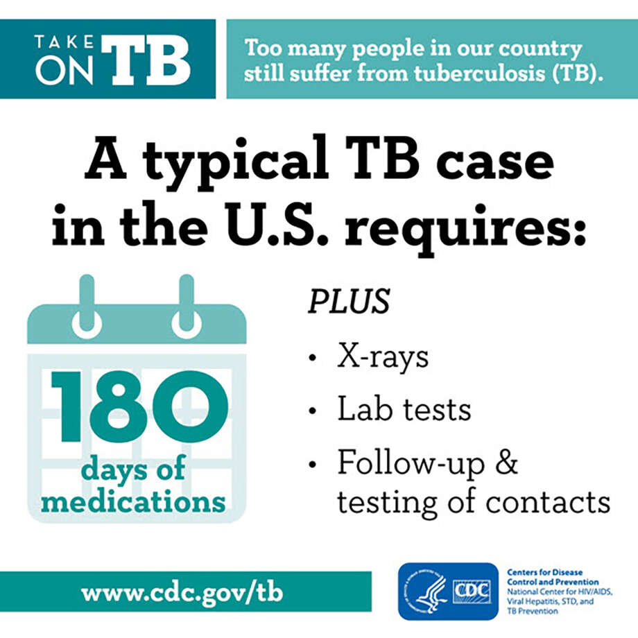 Here are some facts about tuberculosis, courtesy of the CDC.  Photo: Centers For Disease Control