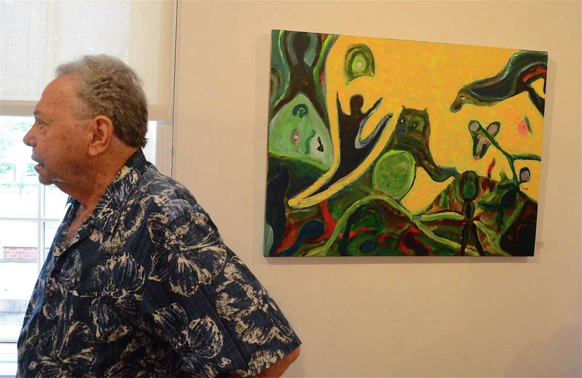 Fairfield artist Al Coyote Weiner stands by his painting