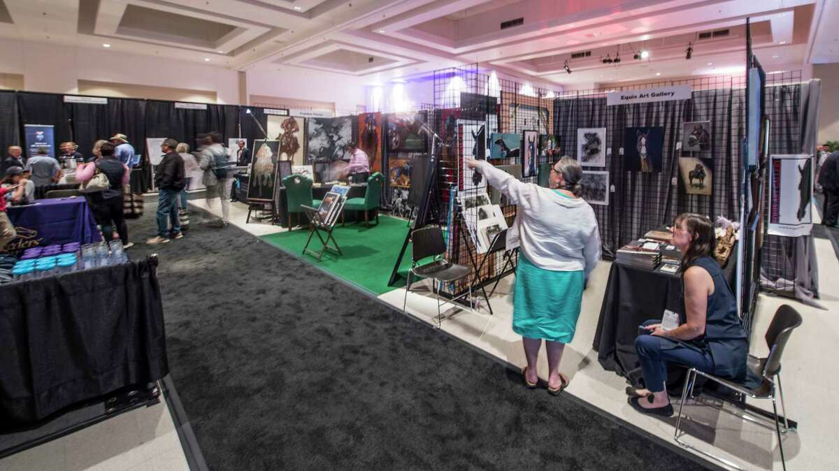 The doors have opened on a new convention, Equestricon, a convention for all subjects in the thoroughbred racing realm, in the Saratoga City Center Monday Aug. 14, 2017 in Saratoga Springs, N.Y. (Skip Dickstein/Times Union)