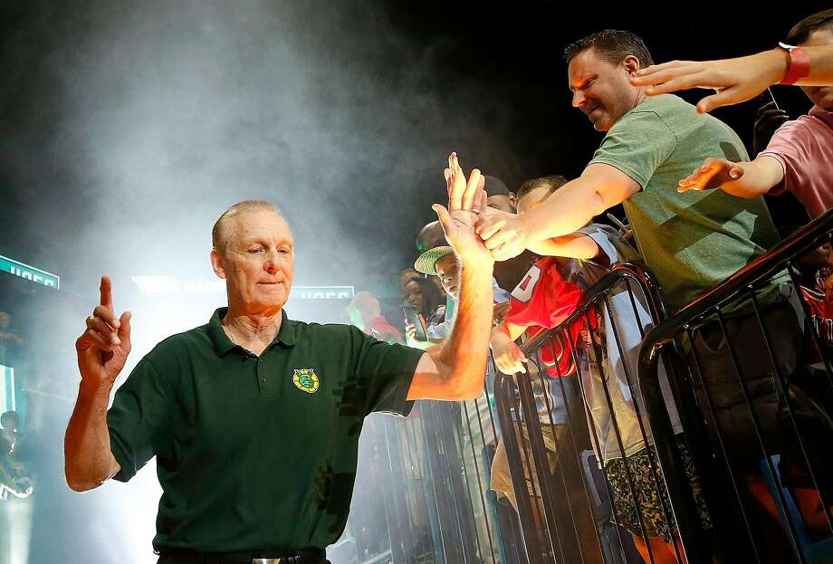 Rick Barry, coach of the Ball Hogs, is introduced during week seven of the BIG3 three on three basketball league at Rupp Arena on August 6, 2017 in Lexington, Kentucky.  Photo: Michael Reaves, Getty Images