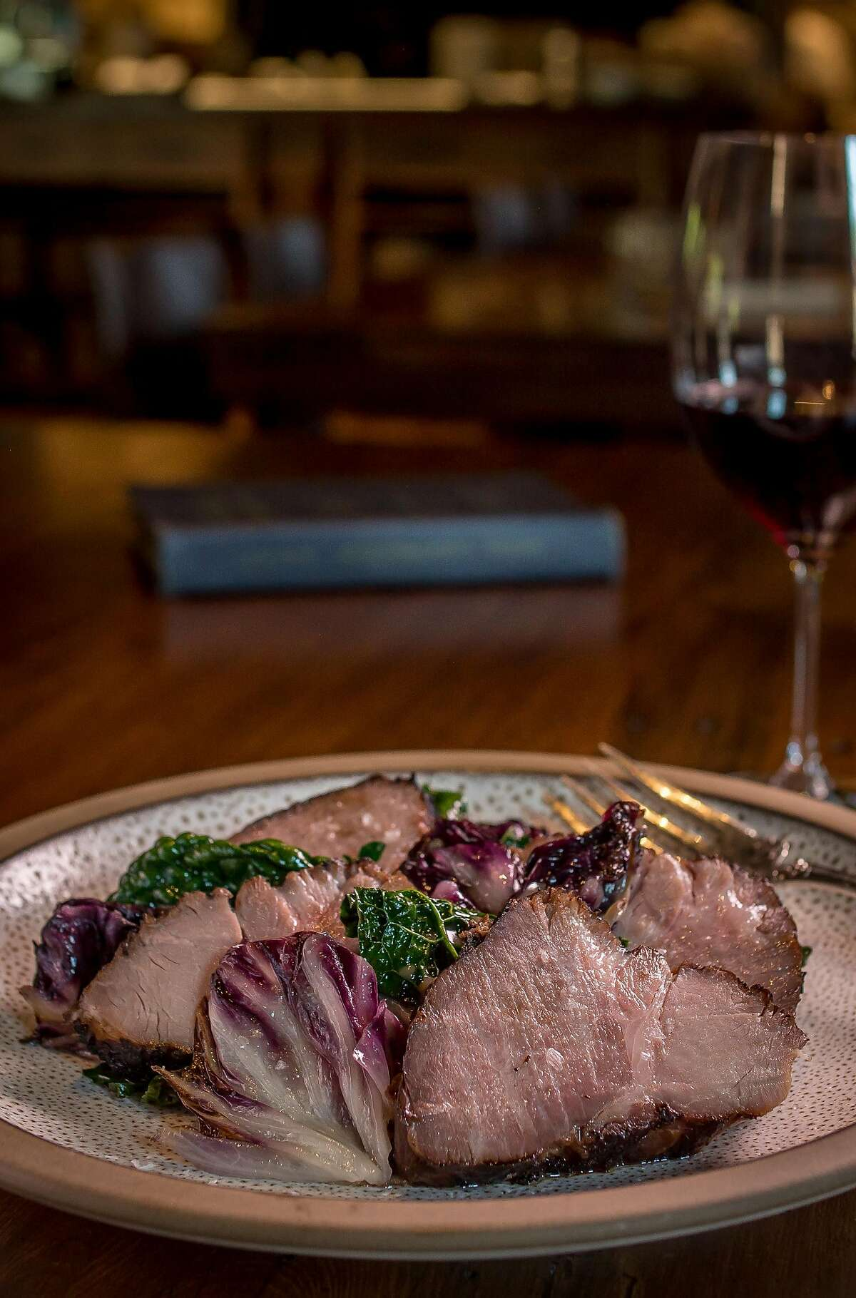 The Pork Collar at Charter Oak in St. Helena, Calif., is seen on August 9th, 2017.
