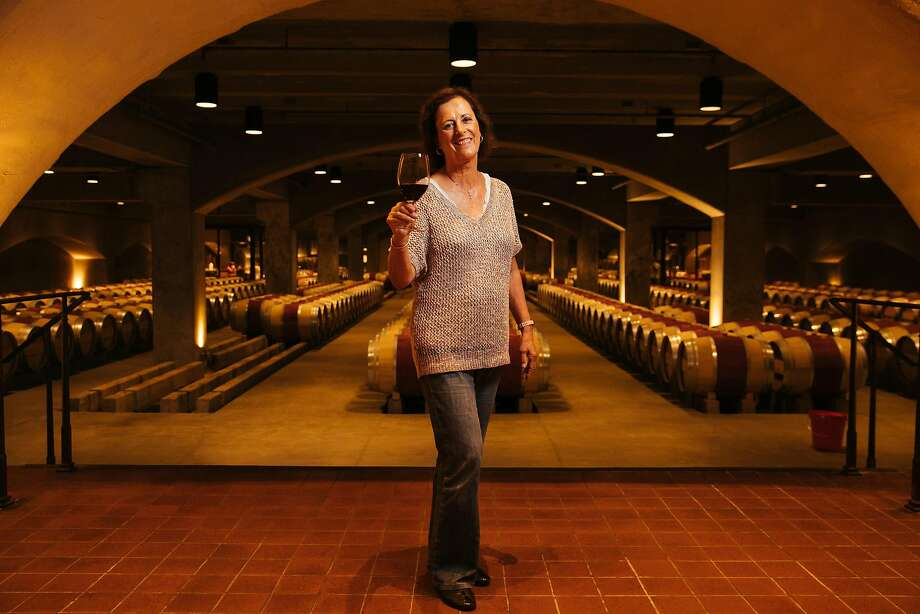 Geneviève Janssens, director of winemaking for Robert Mondavi Winery, in the winery cellar. Photo: Mason Trinca, Special To The Chronicle