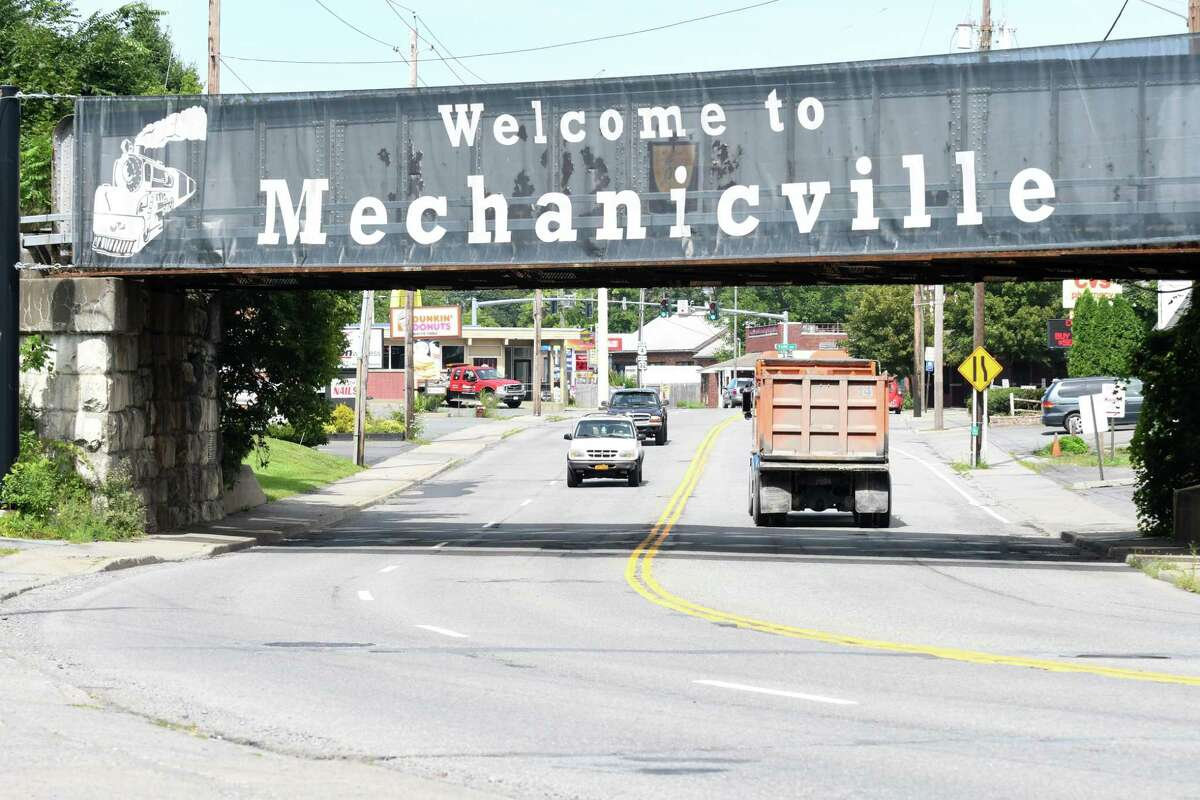 Mechanicville sign on South Central Avenue on Monday, Aug. 14, 2017, in Mechanicville, N.Y. (Will Waldron/Times Union)