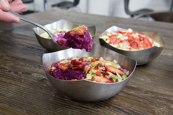 Vitality Bowls, a California-based fast-casual restaurant specializing in acai bowls, is opening its first Houston area store in Friendswood on Aug. 16. Shown: Dragon Bowl.