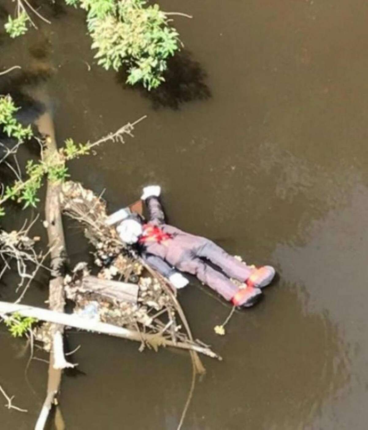 """A winery employee called 911 after spotting a """"possible body"""" floating down Dry Creek in Modesto."""