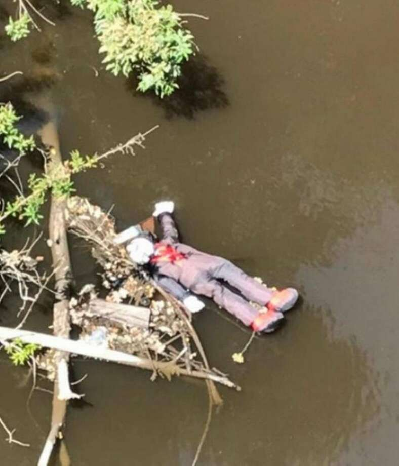 """A winery employee called 911 after spotting a """"possible body"""" floating down Dry Creek in Modesto. Photo: Modesto Fire Department"""