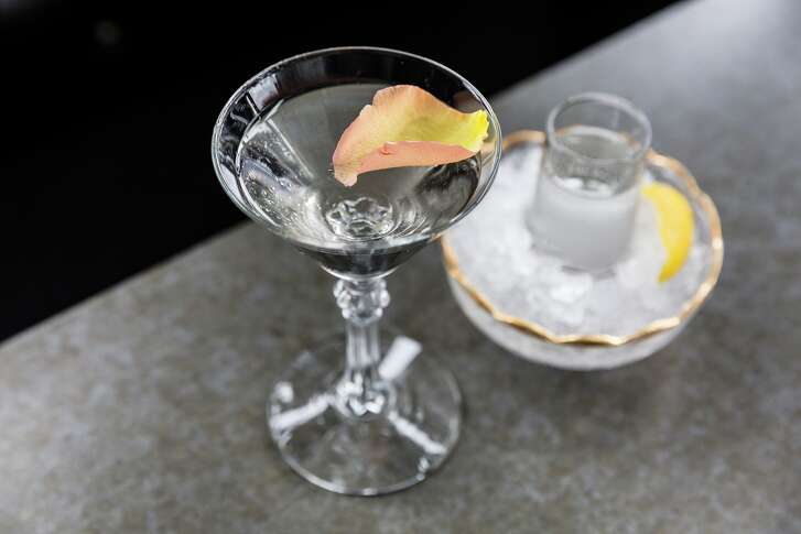 Nolet's English Garden is a martini made with Nolet's Silver Dry Gin and two types of vermouth created by Laurie Harvey and served at Star Fish restaurant, Houston.