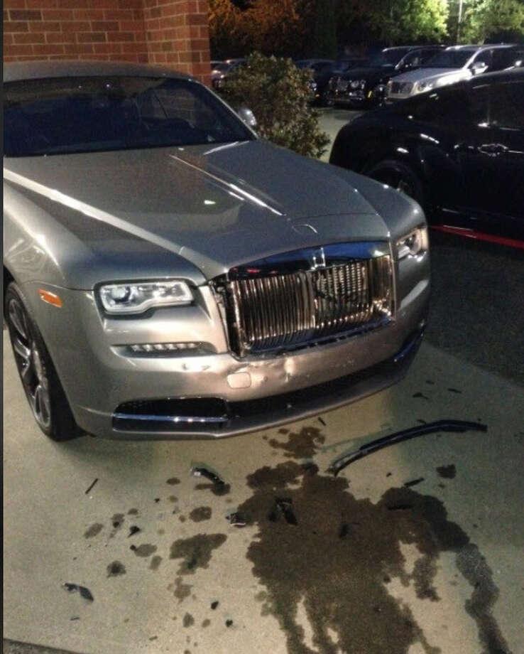 Man Arrested After Ramming Bentley, Rolls At Bellevue