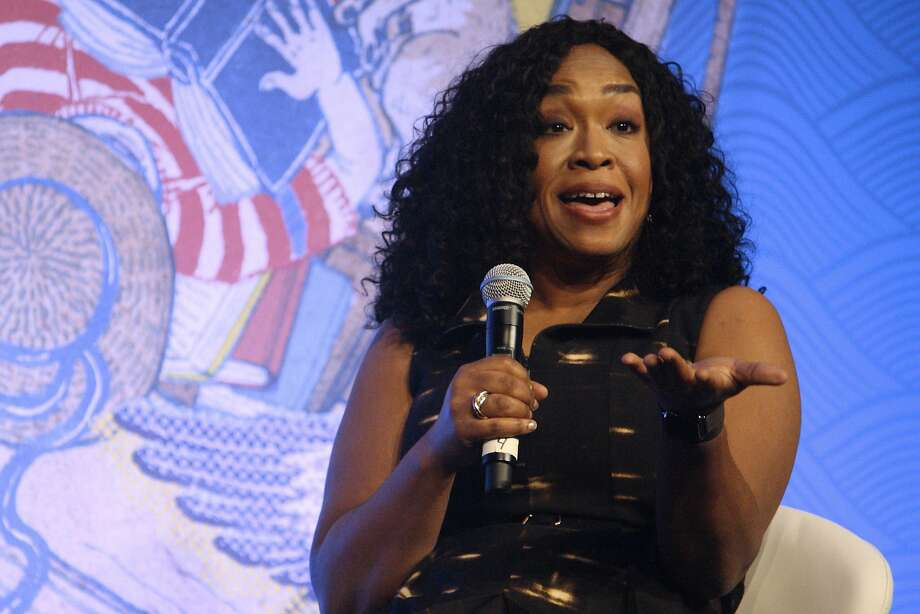 Shonda Rhimes, writer and television producer, speaks Sept. 24, 2016 on the main stage of the 2016 Library of Congress National Book Festival in Washington, D.C. (Evan Golub/Zuma Press/TNS) Photo: Evan Golub, TNS