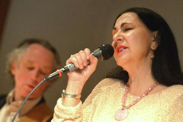 Maria Tiscia and her Brazilian band, Rio Bound, will perform at the Bartlett Arboretum and Gardens on Aug. 20. They performed earlier this year at the Norwalk Public Library.